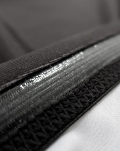 Stitching details and rubber band